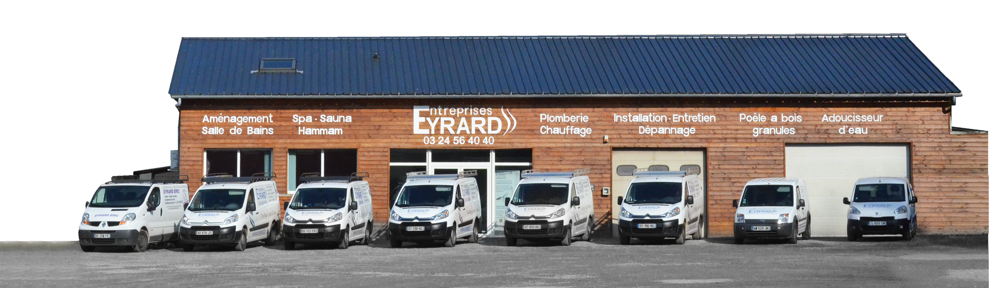 Entreprise Eyrard, enseigne et véhicules