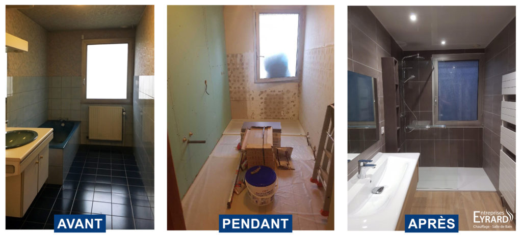 Salle de bains design réalisée par eyrard plomberie chauffage ardennes