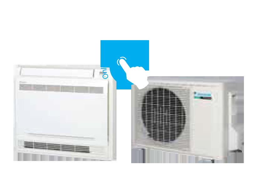 pompe à chaleur Air Air console doule flux