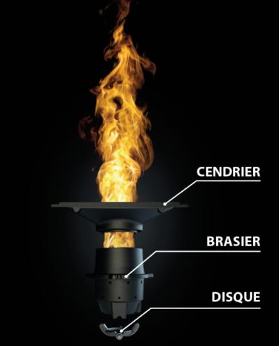 Brasier du poele à granulé de marue nobis installé par l'Entreprise eyrard chauffagiste dans les ardennes