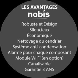les avantages nobis sur les poêles à granulés