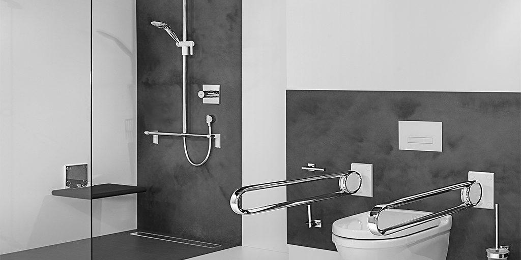 Salle de bains PMR entreprise eyrard