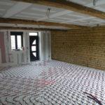 plancher chauffant installé par entreprise Eyrard